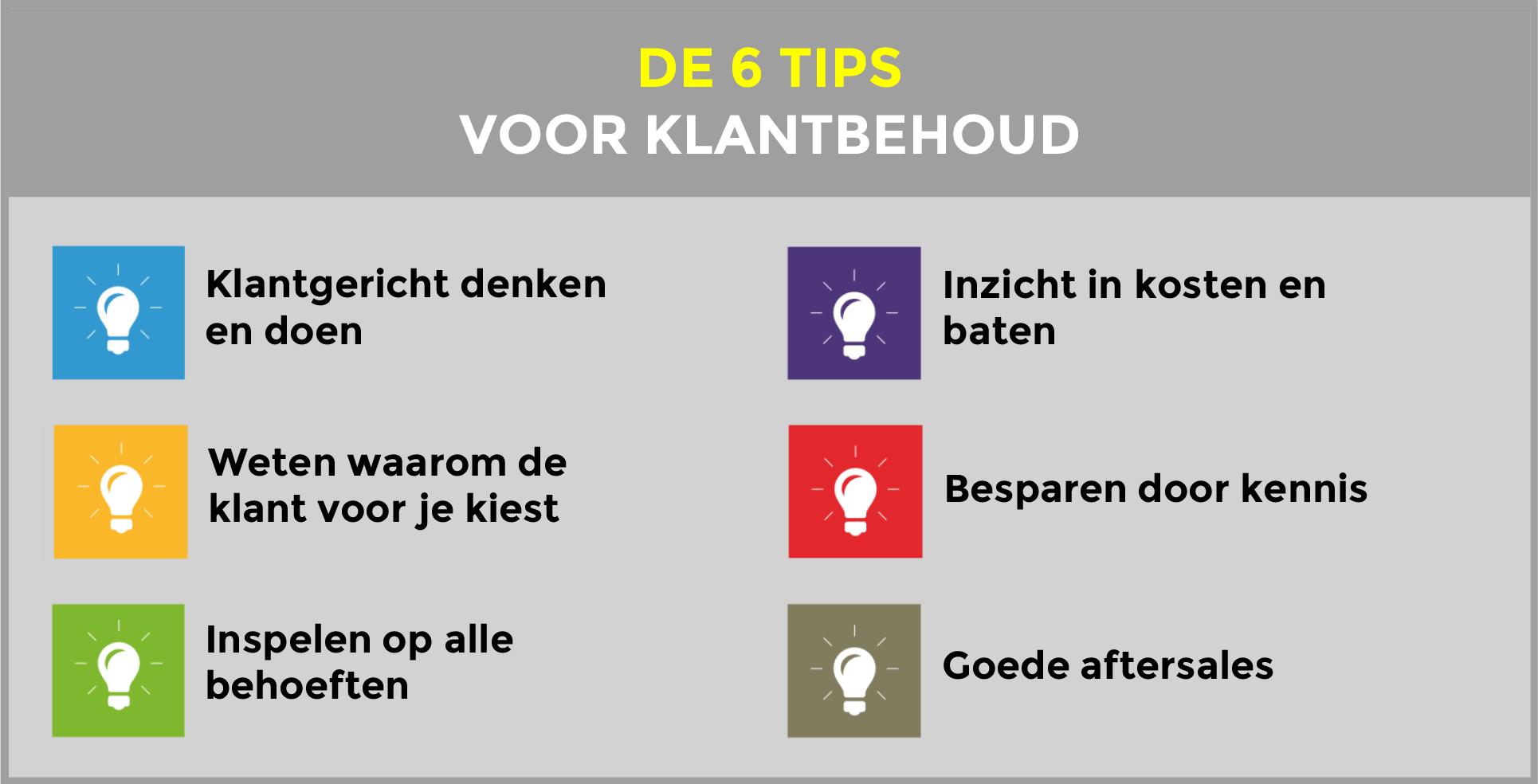 De 6 tips voor klantbehoud